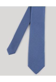 Gravata Masculina Em Jacquard Azul - Único
