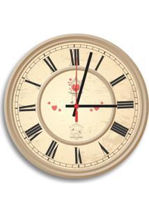 Relógio De Parede Decorativo Bird Cage Números Romanos Único