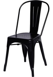 Cadeira Tolix Iron Design Qualidade Com Encosto Or-Design Or-1117 Preto