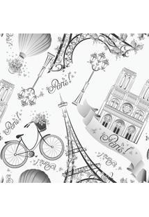 Papel De Parede Paris- Cinza Escuro & Cinza- 300X0,5Jmi Decor