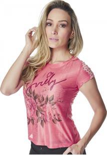 T-Shirt Celestine Estampada Goiaba