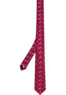 0b0821dd6c5ac Burberry Gravata De Seda Slim Estampada - Pink   Purple