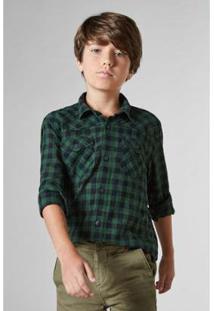 Camisa Mini Sm Palas Infantil Reserva Mini Masculina - Masculino-Verde Escuro