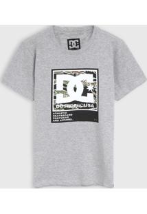Camiseta Dc Shoes Infantil Logo Cinza