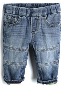 Calça Jeans Gap Menino Liso Azul