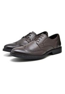 Sapato Masculino Cafe Em Couro Toro 9200