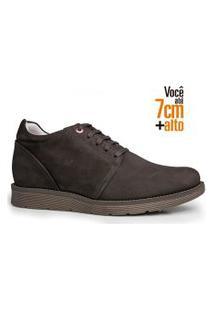 Sapato Masculino Rafarillo Couro Aumenta Altura Urbano