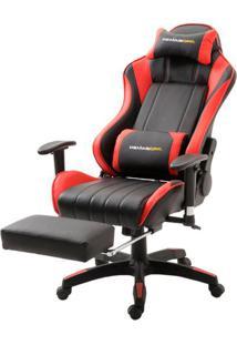 Cadeira Office Xsx Em Courino Preto E Vermelho - 38666 Sun House