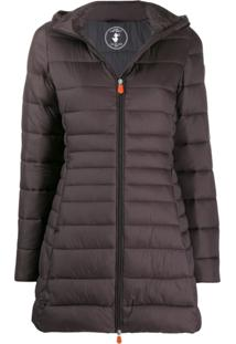 Save The Duck Quilted Zip-Front Jacket - Cinza