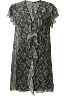 Karl Lagerfeld Vestido Com Estampa De Cobra - Green