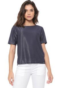Camiseta Dimy Lisa Azul-Marinho