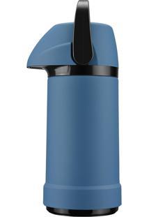 Garrafa Térmica Glt Pressão Soft Touch 500Ml Azul - Invicta