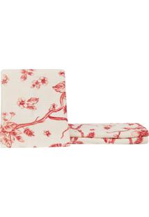 Toalha De Rosto Estampada Itália Floral Marsala