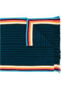 Paul Smith Cachecol Listrado - Azul