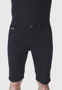 Bermuda Jeans Hno Jeans Amaciada Masculina - Masculino-Preto
