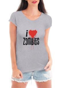 Camiseta Criativa Urbana Zombies Geek Nerd Cinza - Tricae