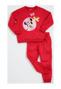 Conjunto Infantil Moletom Estampa Minnie Disney