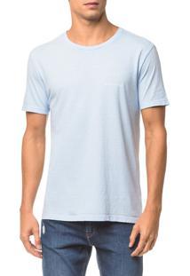 Camiseta Ckj Mc Logo Peito - Azul Claro - P