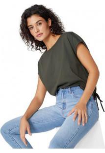 Camiseta Amaro Amarração Barra Feminina - Feminino