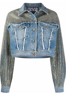 Versace Jeans Couture Jaqueta Com Detalhe De Tachas - Azul