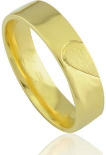 Aliança Neo Joalheiros Casamento Luxo Em Ouro 18K Marselha Masculina - Masculino