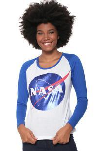 Camiseta Fiveblu Nasa Branca/Azul