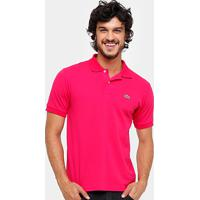 bfe0df633d84b Camisa Polo Lacoste Piquet Original Fit Masculina - Masculino-Pink