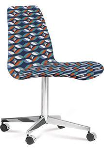 Cadeira Cromada Eames Loft Azul