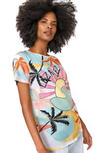 Camiseta Lez A Lez Manly Verde/Rosa - Verde - Feminino - Viscose - Dafiti