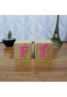 Cubo Decorativo Com Letras Em Acrílico Fè