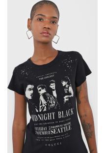 Camiseta Colcci Midnight Preta