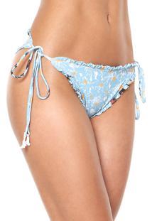 Calcinha Clube Bossa String Fleur Azul