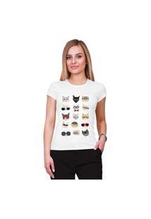 Camiseta Criativa Urbana Gatos Branca