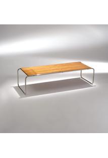 Mesa De Centro Laccio Estrutura Aço Inox Studio Mais Design By Marcel Breuer