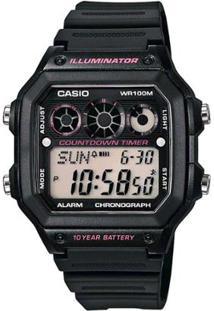 Relogio Unissex Casio Digital Countdown Timer - Pr - Unissex-Preto
