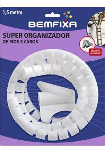 Super Organizador De Cabos & Fios- Branco- 150Xø1,6Cbem Fixa
