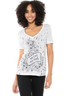 Camiseta Cantão No Love Branca