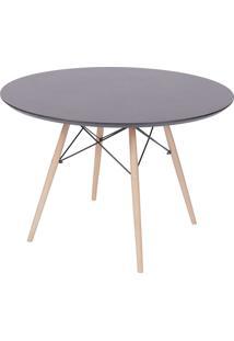 Mesa Para Sala De Jantar Com Tampo Em Mdf 2212-Or Design - Preto