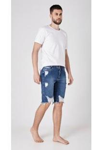 Bermuda Use Jeans Express Tradicional Carlos Masculina - Masculino-Azul