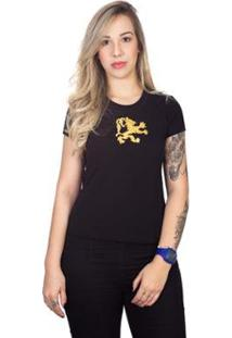 Camiseta 4 Ás Manga Curta Dragão Feminina - Feminino