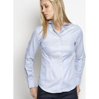 33e0e3ab7b Camisa Maquinetada Em Algodão Egípcio - Azul Claro -Dudalina