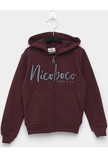 Jaqueta Moletom Infantil Nicoboco Fermoy Masculino - Masculino-Vinho