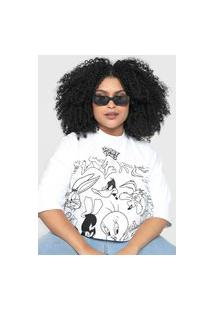 Camiseta Cropped My Favorite Thing(S) Looney Tunes Branco