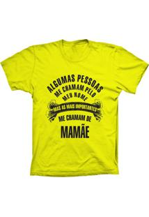 Camiseta Baby Look Lu Geek Chamam De Mamã£E Amarelo - Amarelo - Feminino - Dafiti