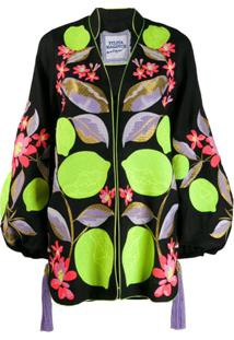 Yuliya Magdych Camisa Com Estampa De Limões - Preto