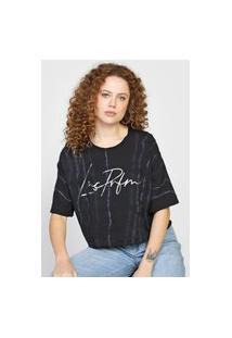 Camiseta Lança Perfume Tie Dye Preta