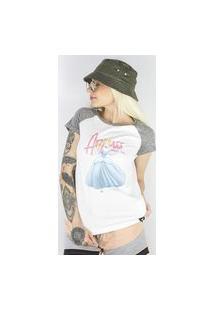 Camiseta Feminina Raglan Princess Pizza Anjuss