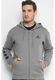 54f04eadb33 Jaqueta De Moletom Adidas Sport Full Zip Masculina - Masculino