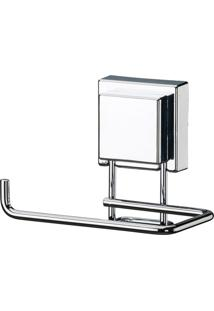 Porta Papel Higiênico De Aço Inox Com Ventosa Future 12X10Cm - 26454