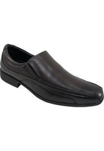 Sapato Conforto Couro Pipper Tradicional Masculino - Marrom - 43 - Masculino-Marrom